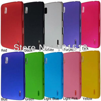 50pcs/lot Free shipping Newest Rubber Hard Case Cover for Google Nexus 4 LG E960