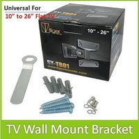 10PCS/LOT Universal Rotated TV Wall Mount Bracket for 10&quot; ~ 26&quot; LCD LED Falt Panel TV DHL Free To USA