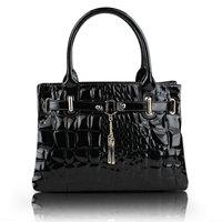 Stone crocodile pattern handbag women bags  fashion women's bag candy color handbag