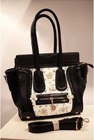 Miss puff  fashion women's handbag cross-body rhinestone lace embroidery smiley bag