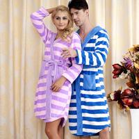 2012 autumn and winter efene domesticated hen lovers design fashion print coral fleece robe sleepwear lounge