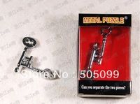Free shipping of high grade Zinc alloy Dismantling key Brain Teaser Metal Puzzles