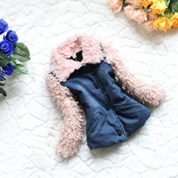 Жилет для девочек 4pcs/lot, 2013 s girls fashion fur with belt vest, 2 color