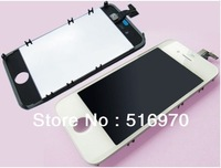 Original 100% Guarantee For iPhone 4s LCD Display+Touch Screen digitizer+Frame Assembly Black or White color Free shipping