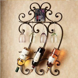 Fashion furniture wine rack iron wine rack wine rack wall shelf(China (Mainland))