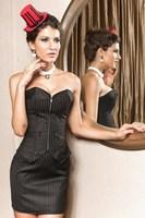 2013 Stripe ol zipper slim tight corset vest skirt 5217