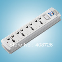 free shipping  DIY  UNIVERSAL  MULTI  SOCKET  PLUG  ADAPTOR 4  sockets 10A 250V 2500W  Universal Electrical Extension Socket