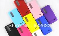 10pcs free shipping Rubber Hard back case For LG Optimus 3D MAX P725