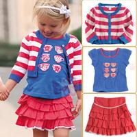 2012 new lace dress brand clothing summer clothing print baby dress flower petti  3set crown merry christmaskids sweatshirt