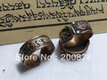 R117  Tibetan Antiqued brass copper Carved Mantras Amulet Open Ring,Tibet Nepal OM amulet Man`s adjustable ring,Best offer
