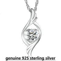 100% genuine 925 sterling silver angel heart swiss sparkling pendant choker necklace for women jewelry DD009