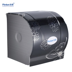 Stainless steel tissue box toilet paper box paper towel holder toilet paper holder closed print(China (Mainland))