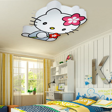 Free shipping LED Hello Kitty cat children lights Kids living room ceiling light fixture modern girls cartoon bedroom lamps (China (Mainland))
