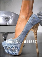 fashion popular sexy jean high heels super quality heels
