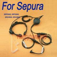 For Sepura SRP2000 SRP3000 SRH3500 SRH3800 Two Way Radio Throat Vibration Microphone