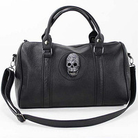 Free shipping!!!made china wholesale handbags ladies handbags sale black skull bag(S001)