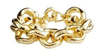 JCB023 /Sweet Girl / Free shipping /wholesale price /gold classic chain bracelet / 100g