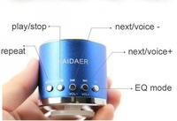 DHL Fast Free shipping Mini Speaker Kaidaer MN01 sound box, support Micro SD Card 100pcs/lot Wholesale