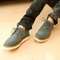Thermal plus velvet autumn and winter brockden skateboarding shoes nubuck leather shoes fashion trend casual shoes carved