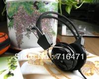 free shipping computer headphone earphones black line belt bass
