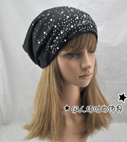 Hat female autumn and winter male casual cap fashion bag massed cap turban lovers mantianxing