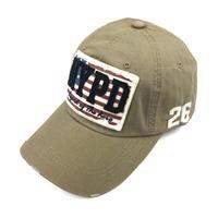 Baseball cap 100% cotton letter nypd applique 26 stripe lovers sunbonnet cap