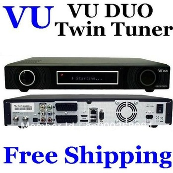 Brand Newest V3 Version Vu Duo Twin Tuner DVB-S2 HD Linux Satellite Receiver PVR  DHL Free Shipping 2pcs