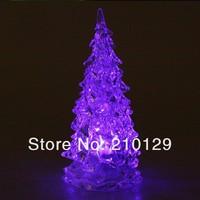 10pcs/lot free shipping!Holiday Festival Best Gift RGB Colorful LED Christmas Tree NightLight Christmas Decoration Night Light,
