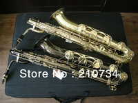 Wholesale -NEW Gold FREE SHIPPING Selmer Mark Mk Low Bari Baritone Sax Saxophone MADE IN CHINA