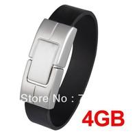 Free shipping Bracelet USB 2.0 4GB Flash Memory Stick Drive Laptop PC