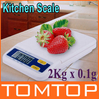 New!! 2Kg x 0.1g Multifunction Digital Electronic Diet Food Compact  Kitchen Scale Weighing Scales , Free shipping dropshipping