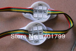 Promotion!!! 30mm diameter WS2801 pixel module,1.44W,6pcs 5050 SMD RGB LED;DC12V input(China (Mainland))