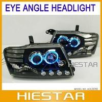 LED Headlight Angel Eyes For Mitsubishi Pajero V73  2000 to 2008 V3 Type