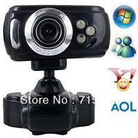Free shipping USB 2.0 16.0M 3 LED Webcam Web Cam Camera Mic PC Laptop