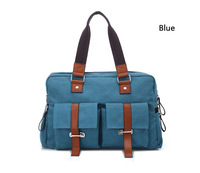 Women Lady's Blue Canvas Tote Bags Handbag Shoulder Bags Retro Messenger Package Free Shipping 1 PCS