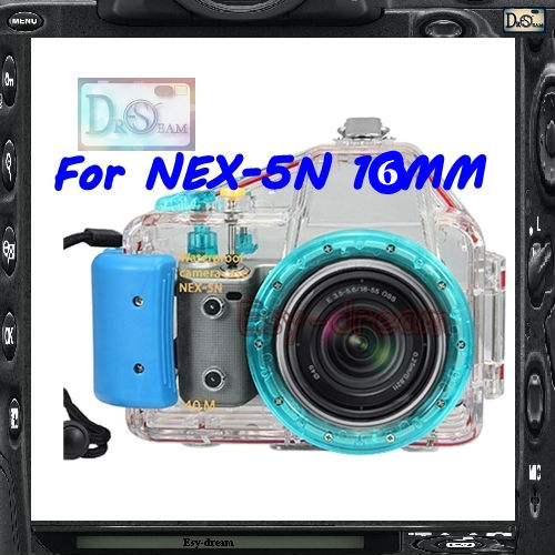 Pro 40M Waterproof Underwater Diving Camera housing Case for NEX-5N NEX5N with 16mm Lens PPW02(China (Mainland))