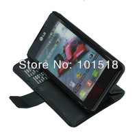New Embossed leather case for  LG P725 P720 Optimus 3D Max  ,inner standing+Film