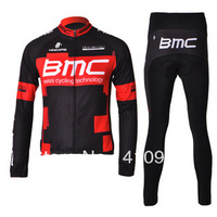Thermal Fleece! 2 Styles! New! 2012 BMC Team Black/Red Winter Cycling Jersey + Long Pants-WT005 Free Shipping