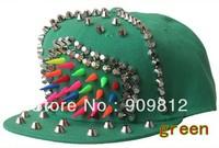 Free Shipping Little chili rivets flat brimmed hat, Adjustable hip-hop cap, Fashion Snapback hats, 7 color 10pcs/lot