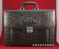 2012 - freshwater crocodile skin male laptop briefcase crocodile skin backpack