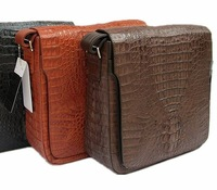 Crocodile skin messenger bag crocodile skin casual bag 3