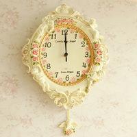 Wall clock rustic quartz clock wall quieten fashion pocket watch wall clock pendulum