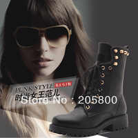 Rubber outsole combat  Beads Gothic men and women rivets fastion tall boot,martens sneaker