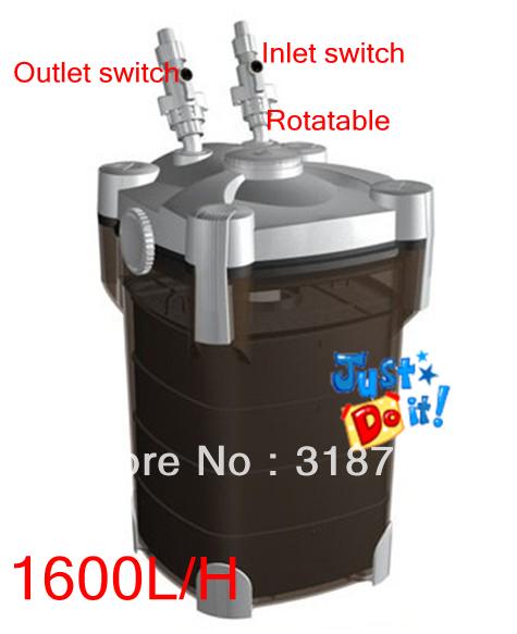 Resun 35W Aquarium Power External Canister Filter Salt Water / Fresh Fish Tank 1600L/H(China (Mainland))