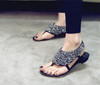 Free shipping,Shining thong Roman sandals flat diamond sandals,Size: 35-41