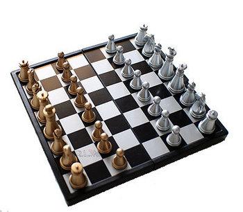 Travel kit folding portable plastic magnetic chess mini set