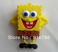 Yellow Silicon Sponge Bob 8GB USB Flash Drive