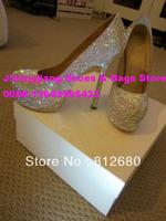 New Arrival Elegant fully rhinestone wedding party shoes Sexy 14cm crystal high heels platform ladies bride shoes N-2012641
