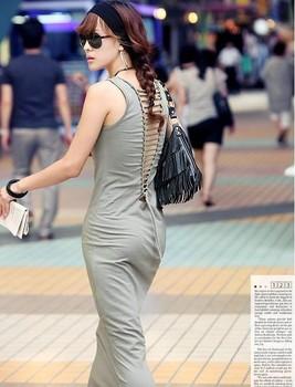 Open the back lacing dress Bohemian dress 2014 Summer New, drop shipping Free shipping W1318