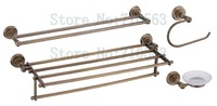 New Arrival - Brass Bathroom Accessories Set,Towel Bar,Towel Rack,Towel Hook,Soap Dish - Free Shipping (K2800-21)